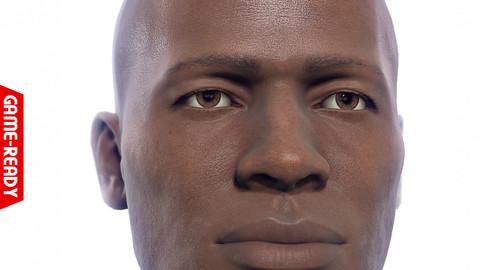 Average Black Male Head