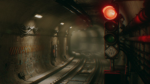 Underground City Subway Tunnel - (UE4)