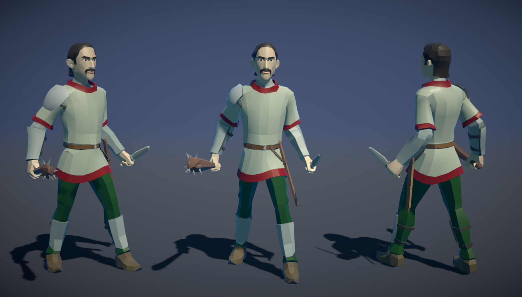 Pt medieval lowpoly characters militia 01