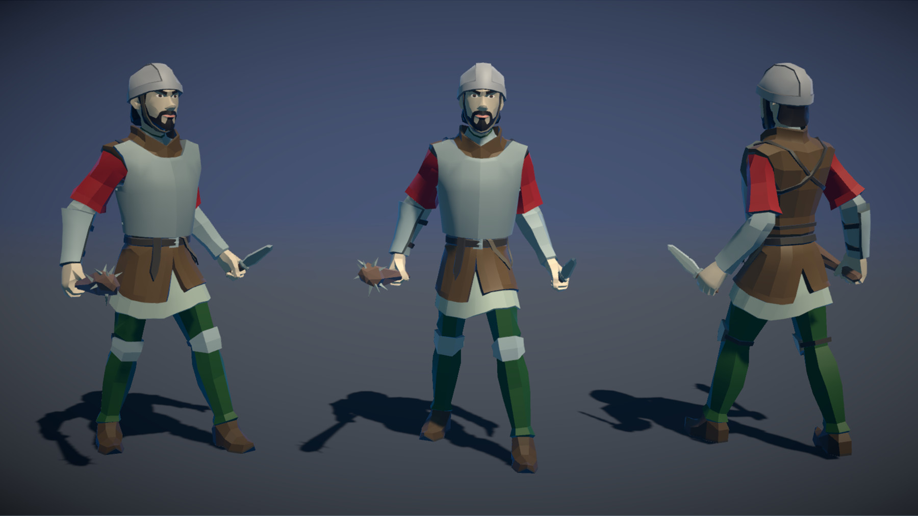 Pt medieval lowpoly characters militia 03