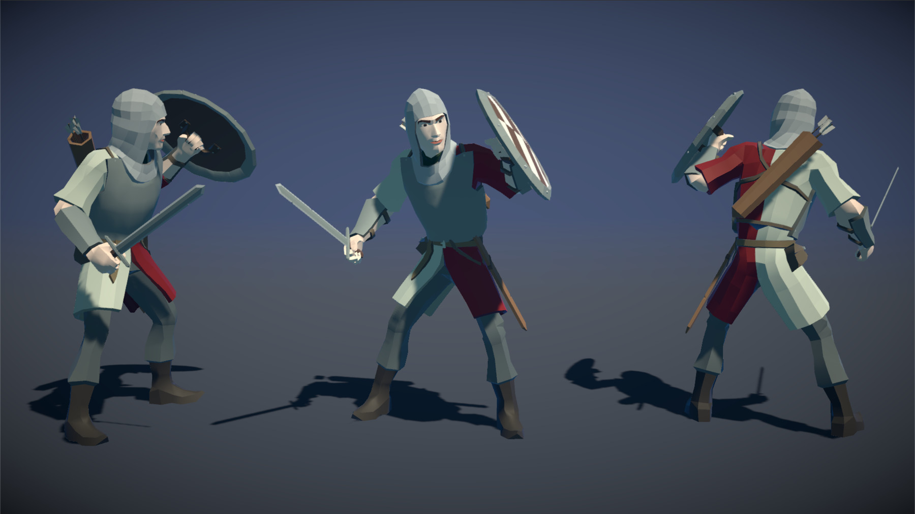 Pt medieval lowpoly characters soldier 01