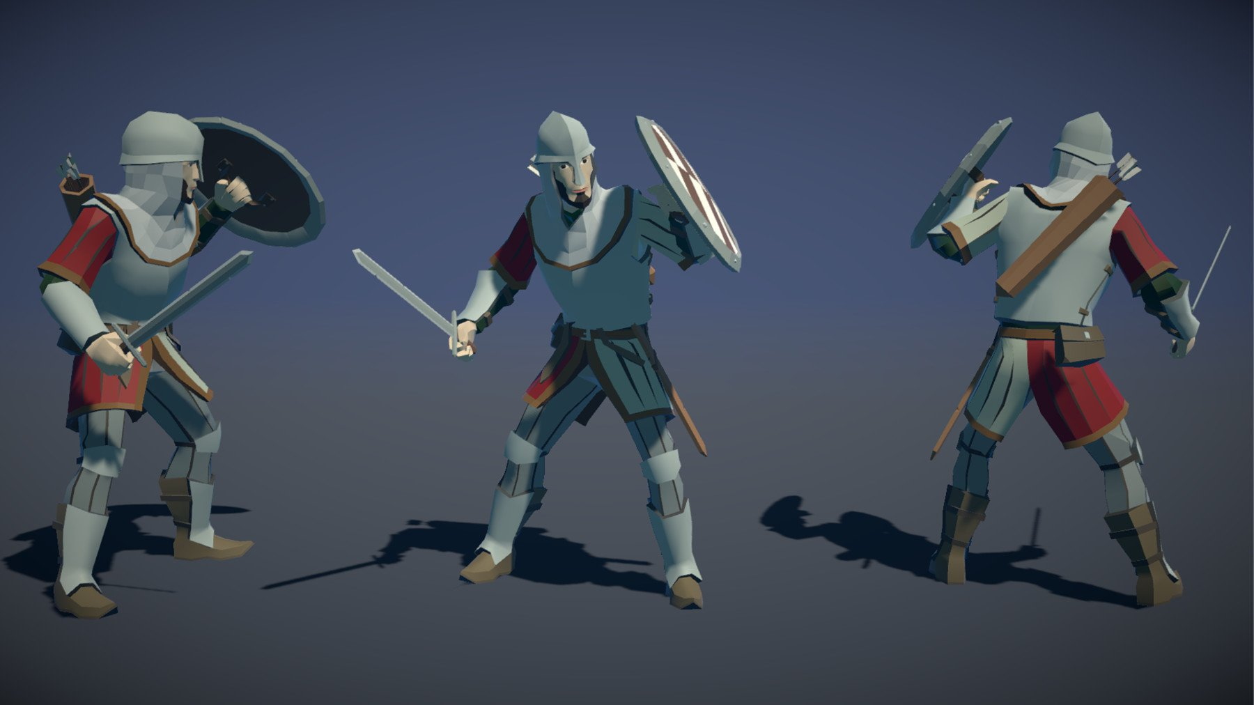 Pt medieval lowpoly characters soldier 02