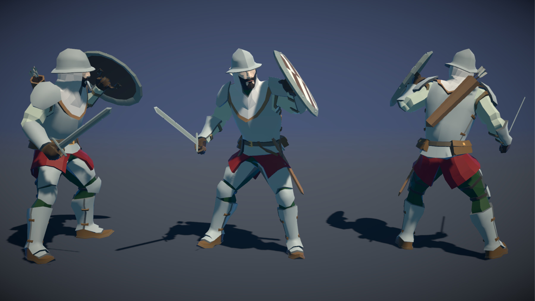 Pt medieval lowpoly characters soldier 03