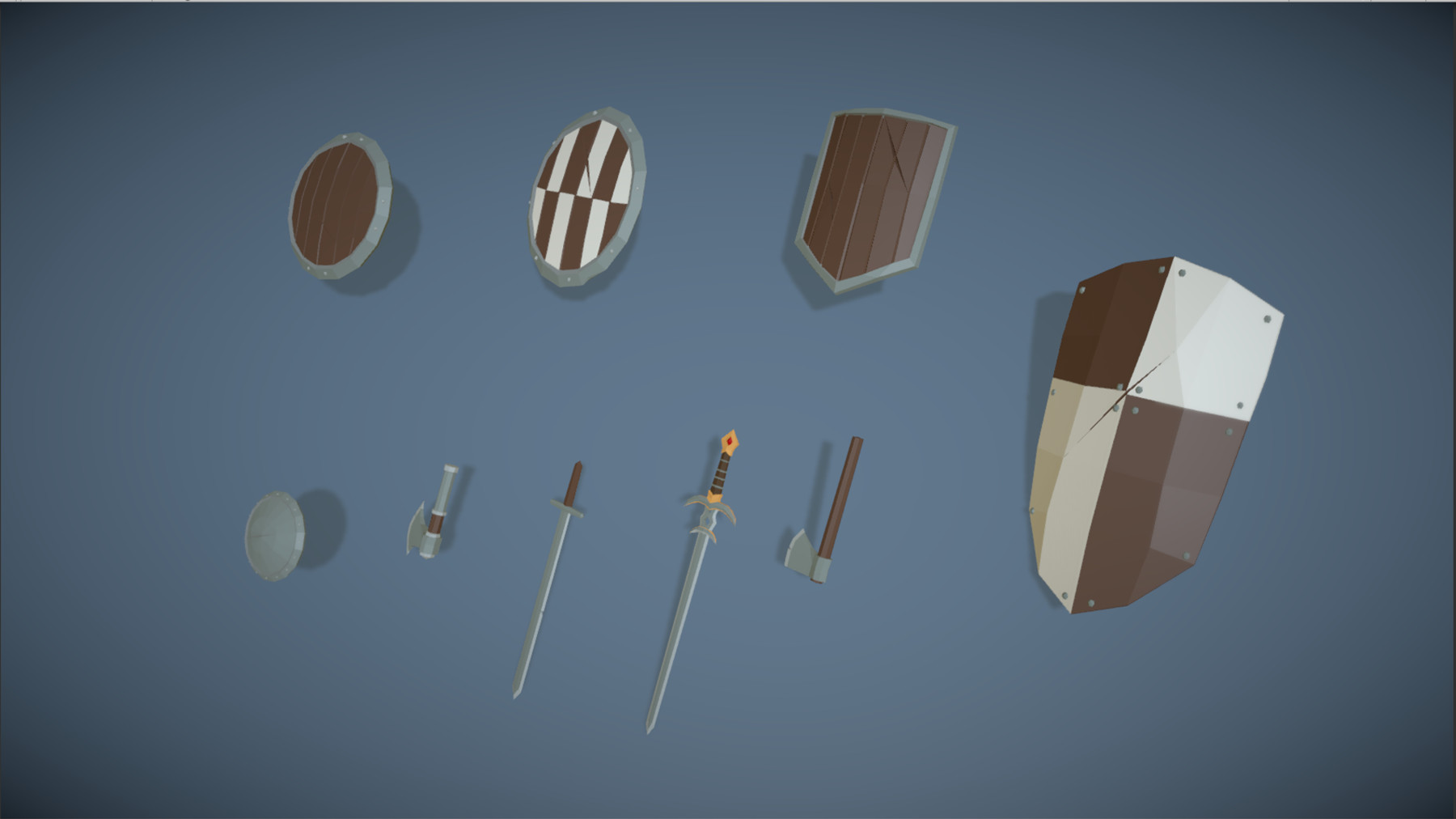 Pt medieval lowpoly characters weapons 02