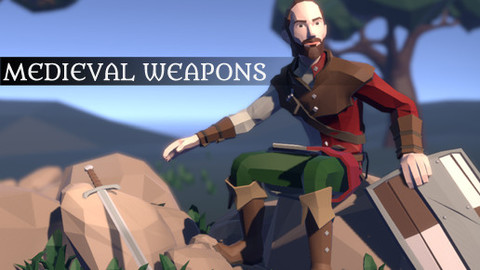 Pt medieval lowpoly weapons large image