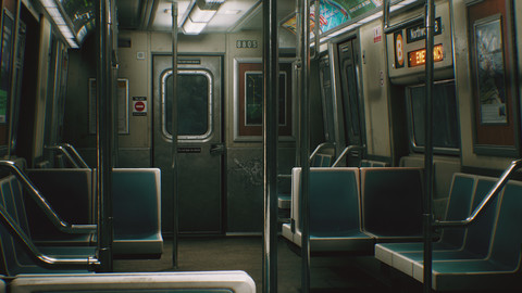 City Subway Train - (UE4)