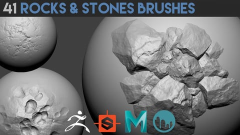 41 Rocks & Stones Brushes