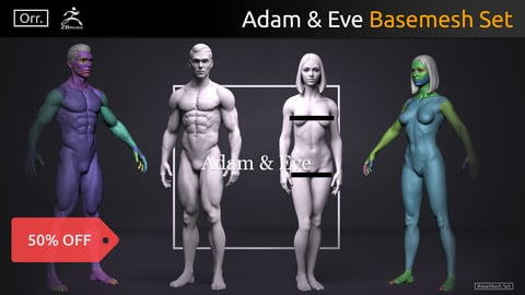 Basemesh Set - Adam & Eve