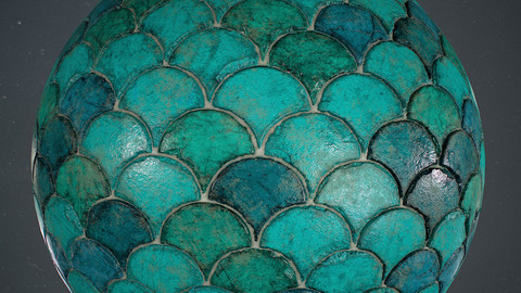 Fish Scale Wall Material in Substance Designer