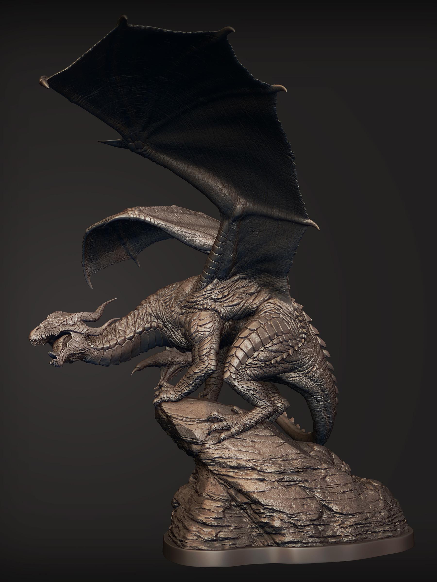 Dragon pose right