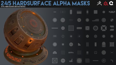 245 Hardsurface alpha masks