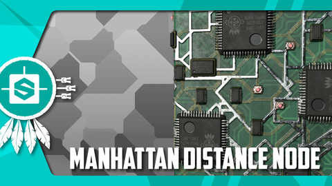 Manhattan Distance Node for SUBSTANCE DESIGNER