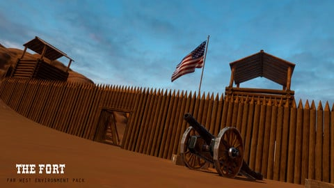 The Fort, A Wild West Environment Pack for the Unity Engine