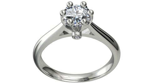 JEWELRY ENGAGEMENT RING STL FILE FOR DOWNLOAD AND PRINT 3D PRINT MODEL -  CC1