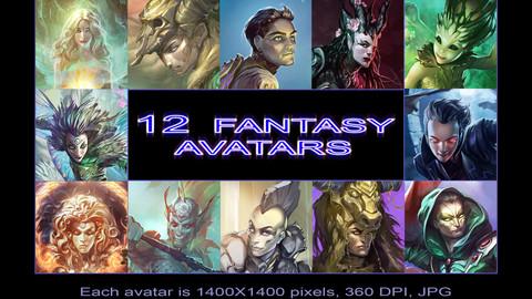 12 fantasy avatars