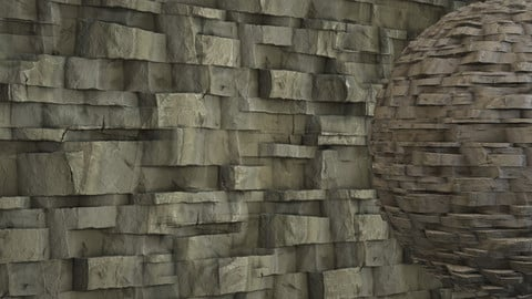 Substance Designer - Blocky Cliff