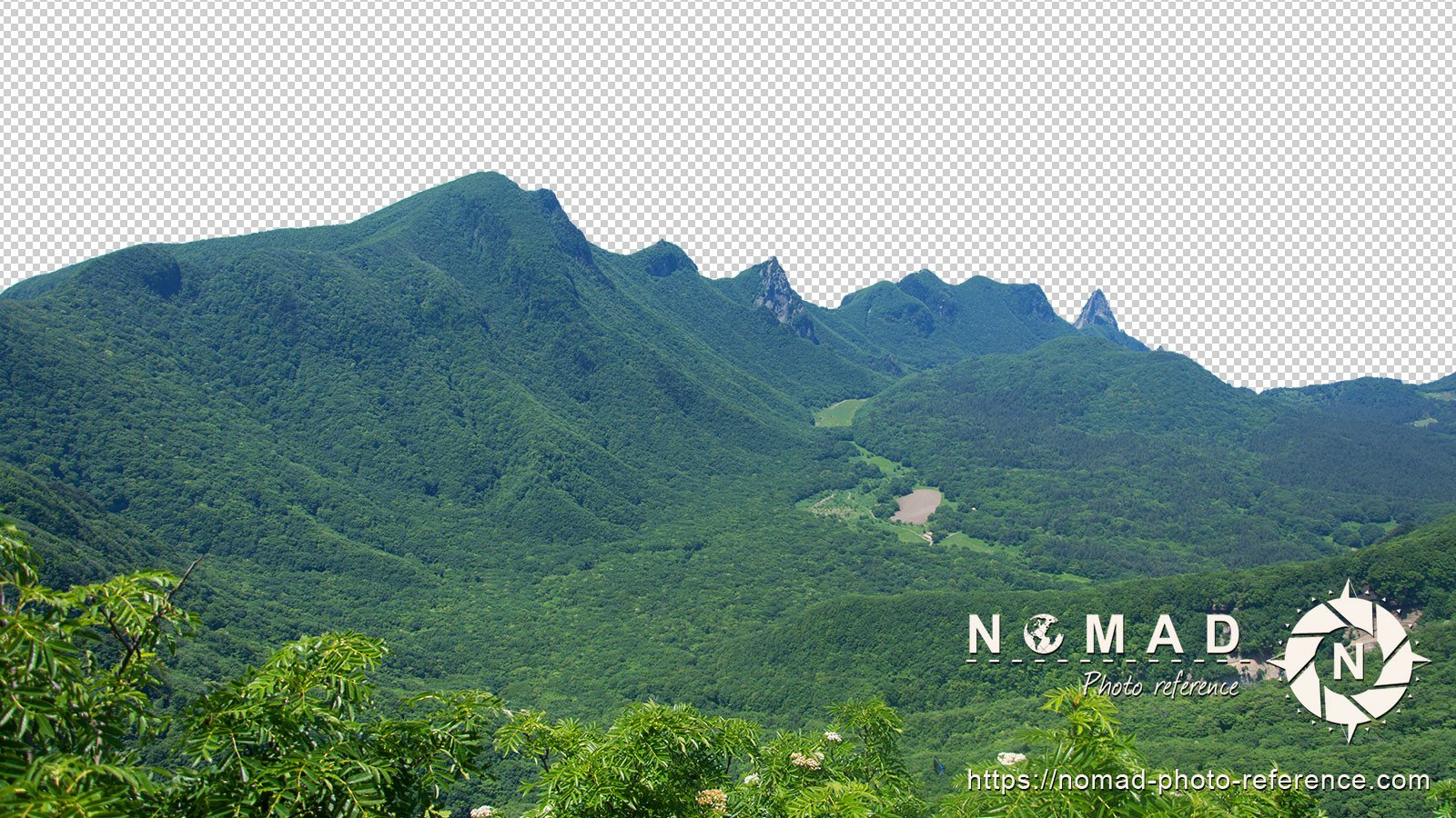 Png cutout photo pack asian moutains 8