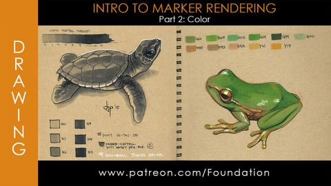 Foundation Art Group - Intro to Marker Rendering - Part 2: Color