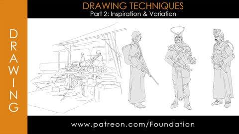 Foundation Art Group - Drawing Techniques - Part 2: Inspiration & Variation