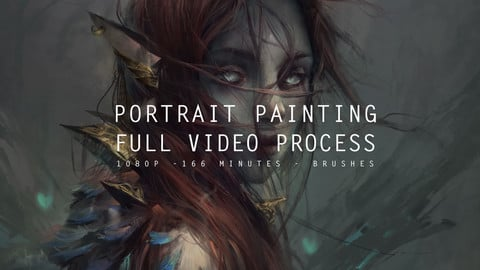 Portrait Painting - Full video process + Brushes