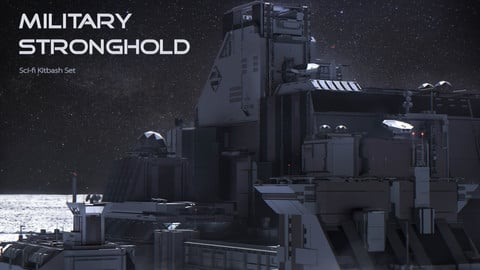Military Stronghold Sci-fi Kitbash Set