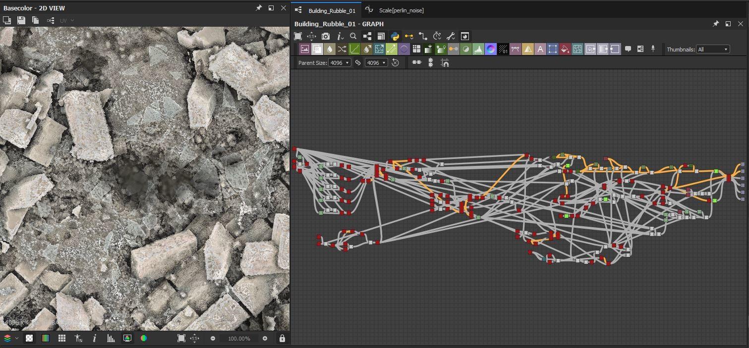 Building rubble 01 graph