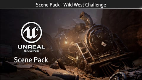 Scene Pack - Tomb of the Iron Horse  (Artstation Wild West Challenge)