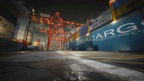 Container Yard Environment Set [UE4]