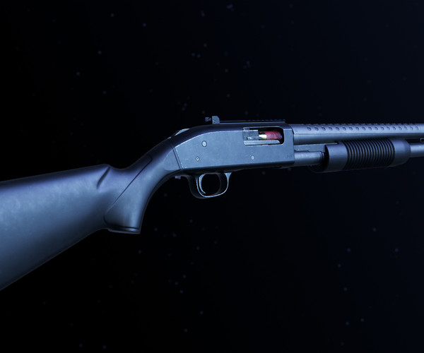 Modular Mossberg 590A1 - Gameready - Fully Textured - Extended License