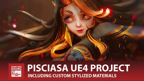 Pisciasa Stylized PBR Character UE4 Project