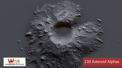 230 Asteroids Planet Alpha [ Brushes ]