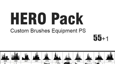 HERO Pack - Custom Brushes for Photoshop