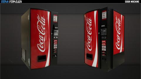 PBR Coca Cola Machine - VR Ready