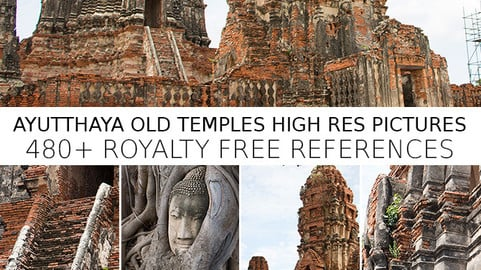 Ayutthaya Old Temples Reference Pack