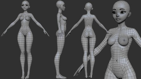 Anime Female Base Mesh