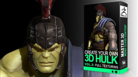 Hulk Vol. 3: Texturing and Painting - 3D Course Character creation in Zbrush [Colosus Anatomy]