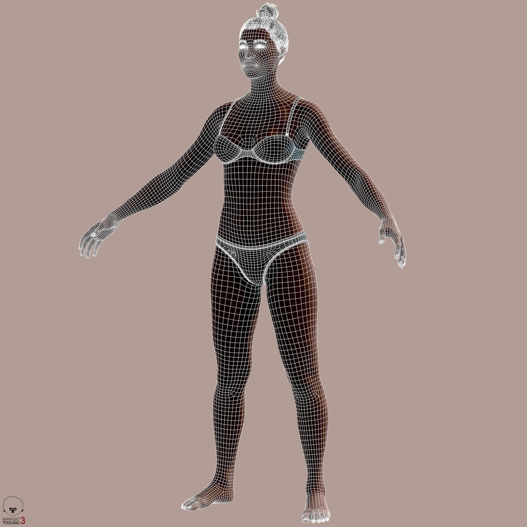 Averageblackfemalebody by alexlashko wires 01