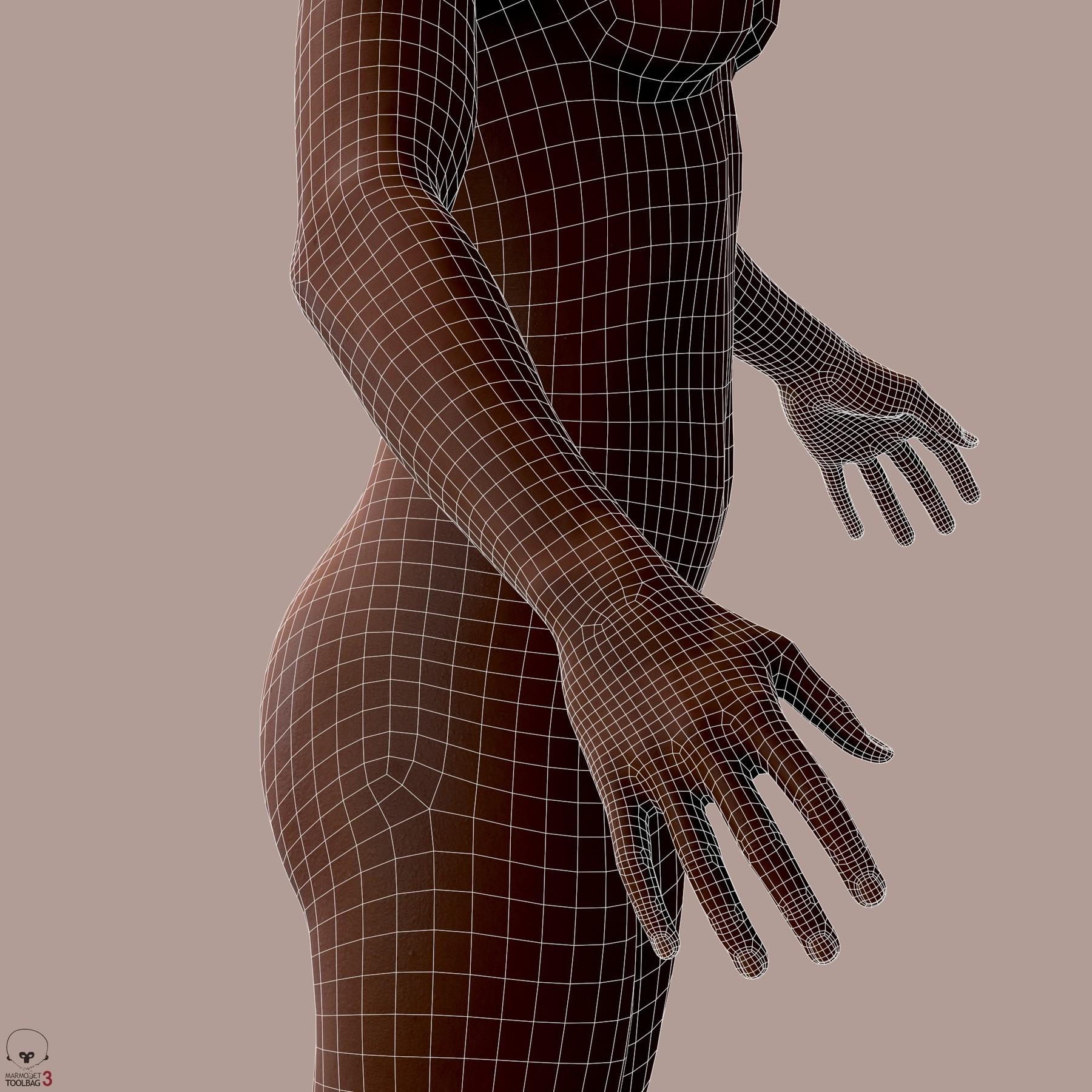 Averageblackfemalebody by alexlashko wires 05