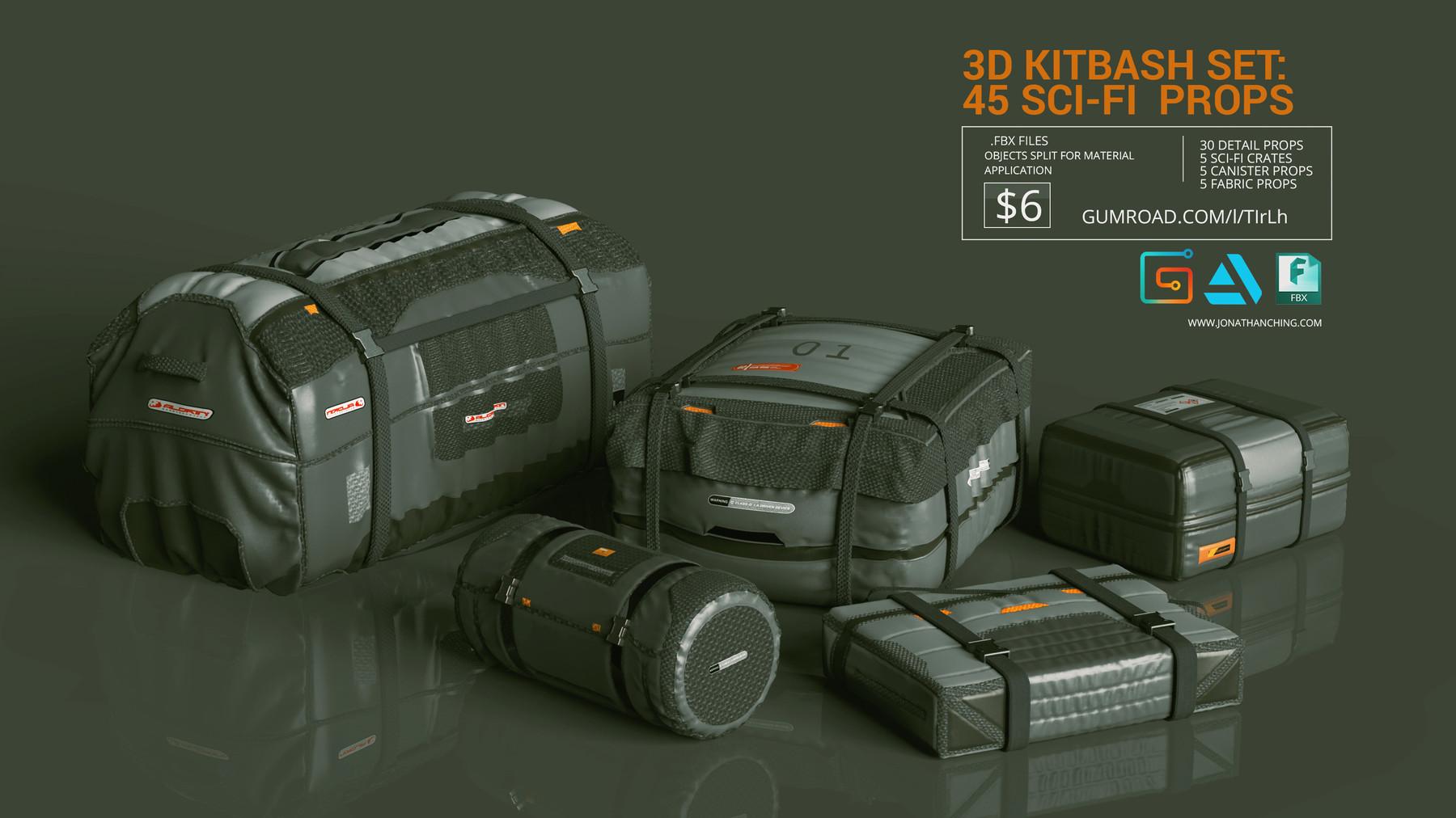 Sci fi props cargo