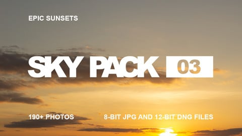 Sky Pack 03 / Epic Sunsets / Clouds reference pack