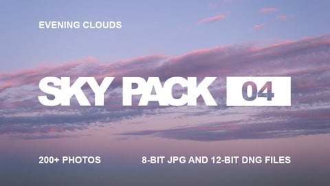 Sky Pack 04 / Evening clouds reference pack