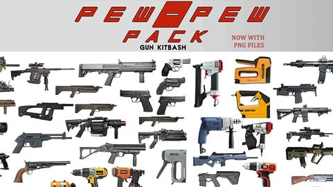 Pew Pew pack 1 (80 gun kitbash set)