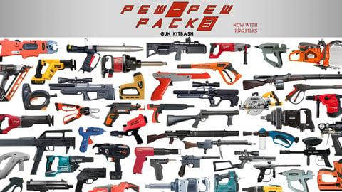 Pew Pew pack 3 (80 gun kitbash set)