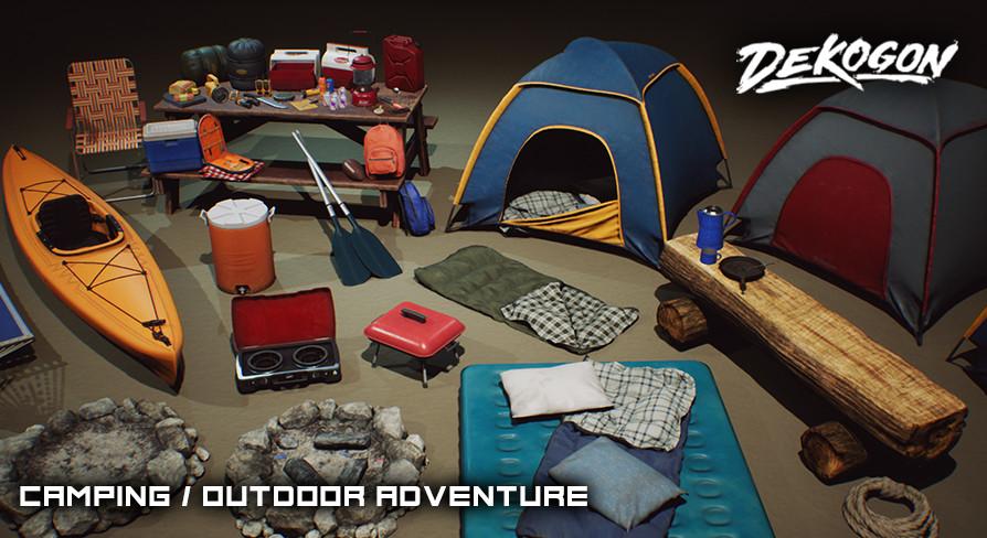 Dekogon Studios - Camping and Outdoor Props VOL  1 [UE4+Raw]