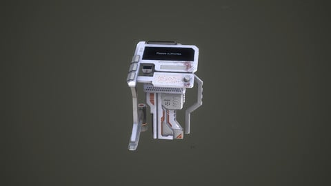 Sci-Fi Console Game Ready Model With Textures
