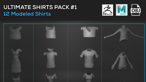 Ultimate Shirts Model Pack # 1