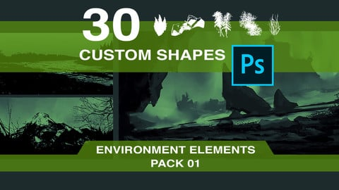 30 Custom Shapes - Environment Elements