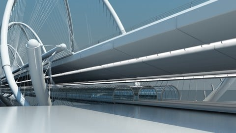 Futuristic Suspension Bridge 1 HD