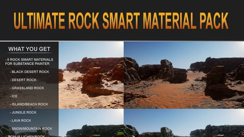 Ultimate Rock Smart Material Pack