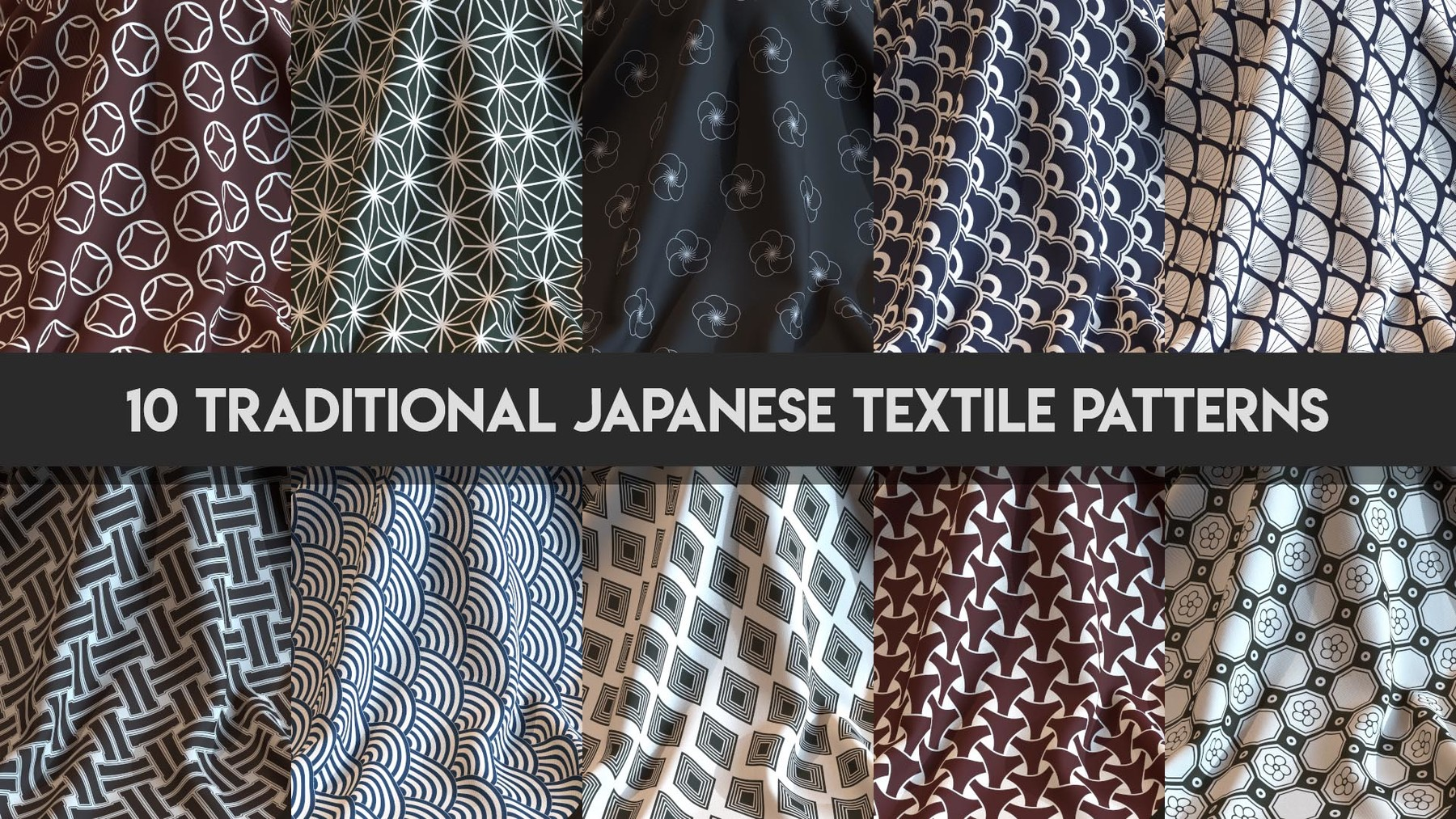 Artstation 10 Procedural Traditional Japanese Textile Patterns